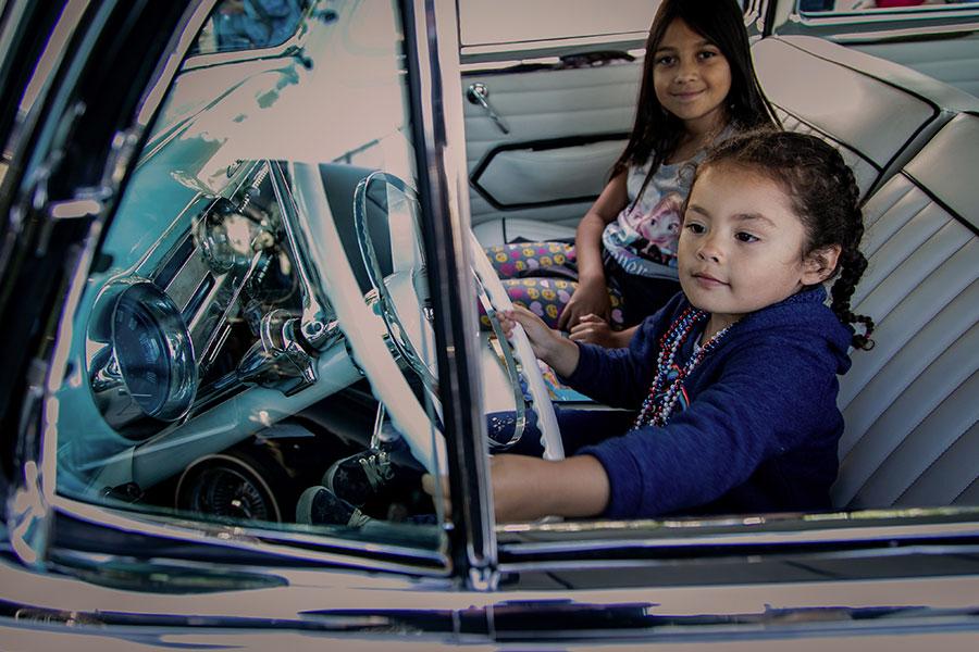 Girl Next to Car